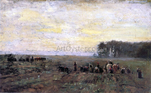 Theodore Clement Steele Haying Scene - Hand Painted Oil Painting