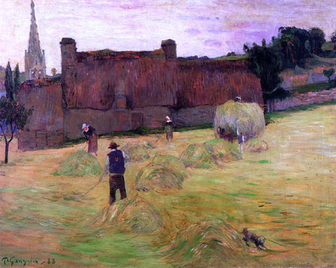 Paul Gauguin Haymaking - Hand Painted Oil Painting