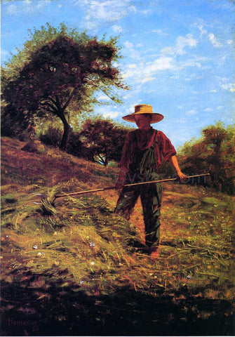 Winslow Homer Haymaking - Hand Painted Oil Painting