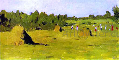 Isaac Ilich Levitan Haymaking, Study - Hand Painted Oil Painting