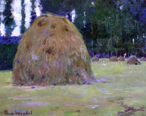 Theodore Wendel Haystacks in Giverny, France - Hand Painted Oil Painting
