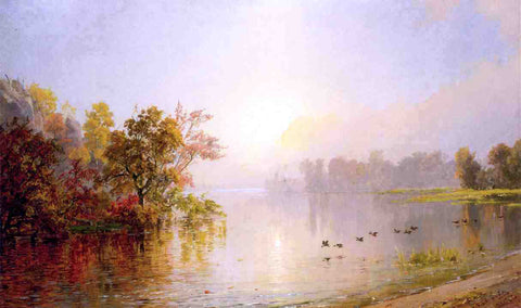 Jasper Francis Cropsey Hazy Afternoon, Autumn, 1873 - Hand Painted Oil Painting
