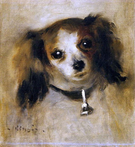 Pierre Auguste Renoir Head of a Dog - Hand Painted Oil Painting