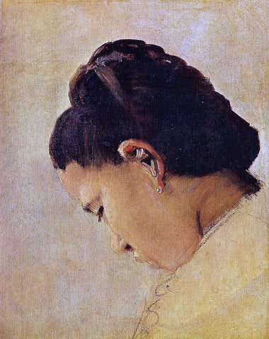 Georges Seurat Head of a Girl - Hand Painted Oil Painting