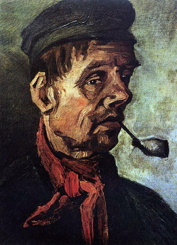 Vincent Van Gogh Head of a Peasant with a Pipe - Hand Painted Oil Painting
