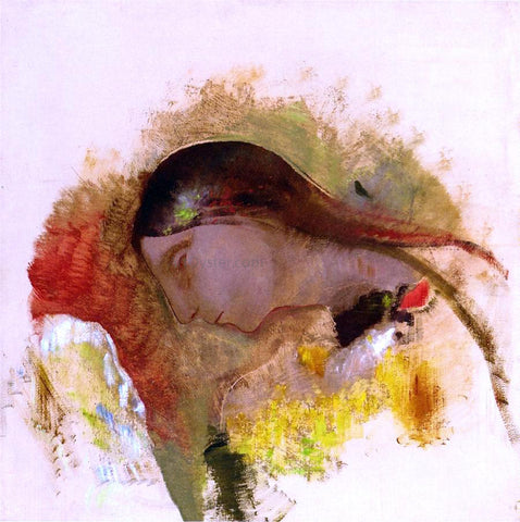 Odilon Redon Head of a Sleeping Woman - Hand Painted Oil Painting