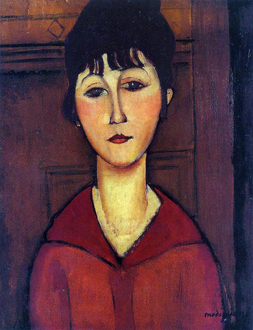 Amedeo Modigliani Head of a Young Girl - Hand Painted Oil Painting