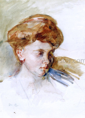 Mary Cassatt Head of a Young Woman - Hand Painted Oil Painting