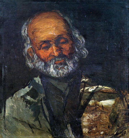 Paul Cezanne Head of an Old Man - Hand Painted Oil Painting