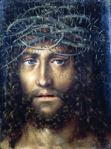 The Elder Lucas Cranach Head of Christ Crowned with Thorns - Hand Painted Oil Painting