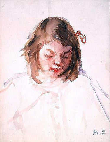Mary Cassatt Head of Francoise Looking Down (no.4) - Hand Painted Oil Painting