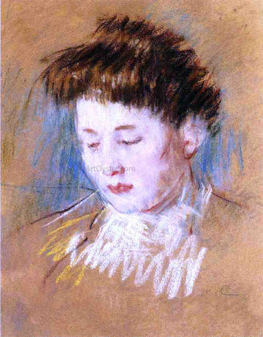 Mary Cassatt Head of Julie, Looking Down - Hand Painted Oil Painting