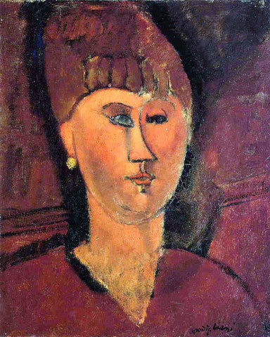 Amedeo Modigliani Head of Red-Haired Woman - Hand Painted Oil Painting