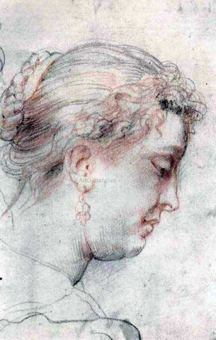 Peter Paul Rubens Head of Woman - Hand Painted Oil Painting