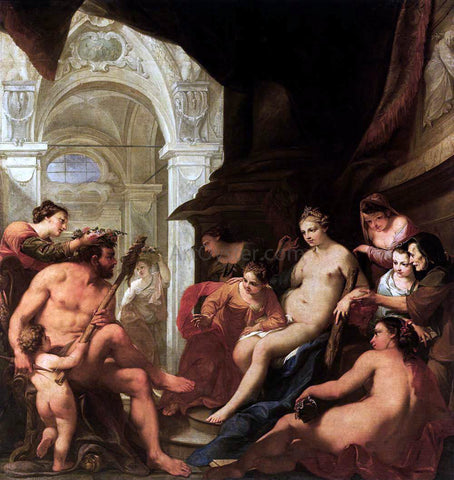 Antonio Bellucci Hercules in the Palace of Omphale - Hand Painted Oil Painting