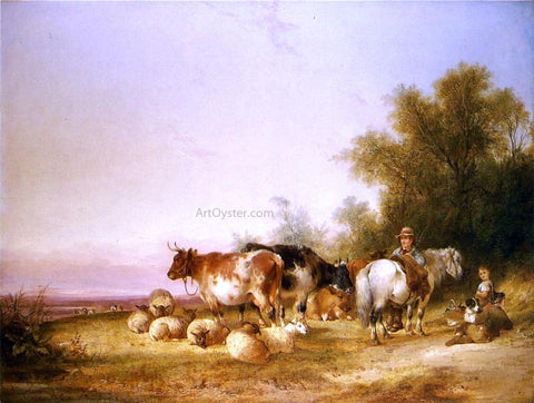 Senior William Shayer Herders Resting at Lunch - Hand Painted Oil Painting