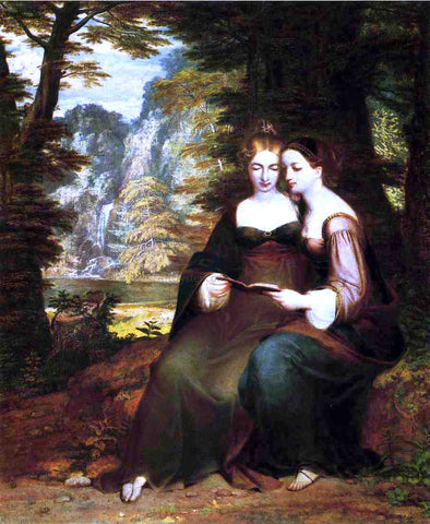 Washington Allston Hermina and Helena - Hand Painted Oil Painting