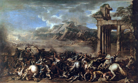 Salvator Rosa Heroic Battle - Hand Painted Oil Painting