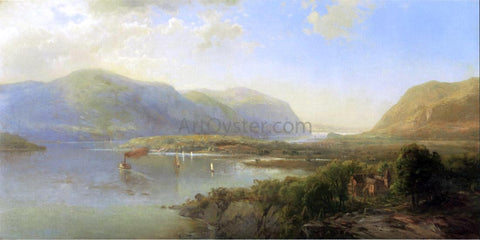 Hermann Fuechsel Highlands of the Hudson Near Westpoint - Hand Painted Oil Painting