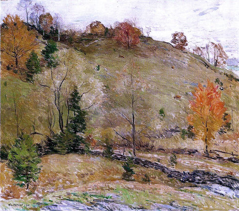Willard Leroy Metcalf Hillside Pasture - Hand Painted Oil Painting