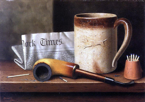 William Michael Harnett His Mug and His Pipe - Hand Painted Oil Painting