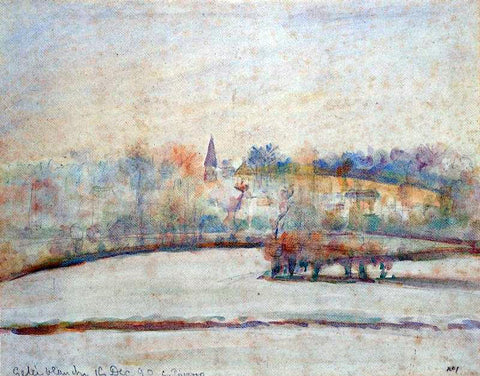 Camille Pissarro Hoarfrost - Hand Painted Oil Painting