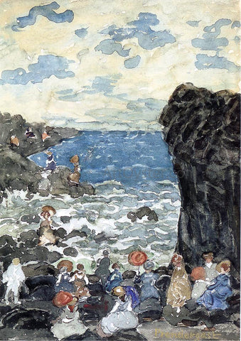 Maurice Prendergast Holiday, Headlands - Hand Painted Oil Painting