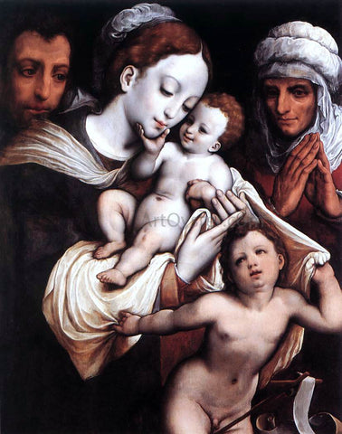 Cornelis Van Cleve Holy Family - Hand Painted Oil Painting