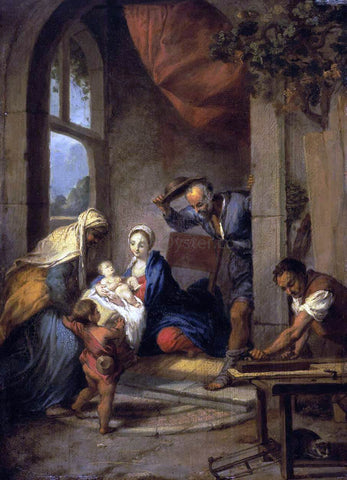 Nicolas Vleughels Holy Family - Hand Painted Oil Painting
