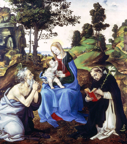 Filippino Lippi Holy Family - Hand Painted Oil Painting