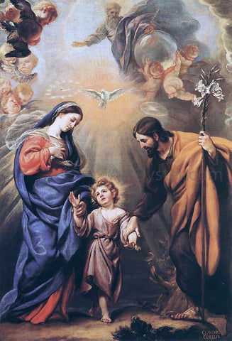 Claudio Coello Holy Family - Hand Painted Oil Painting