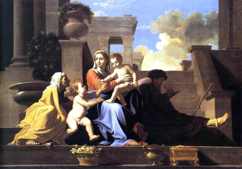Nicolas Poussin Holy Family on the Steps - Hand Painted Oil Painting
