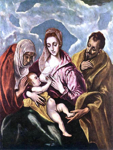 El Greco Holy Family with St Anne - Hand Painted Oil Painting