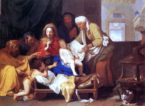 Charles Le Brun Holy Family with the Adoration of the Child - Hand Painted Oil Painting