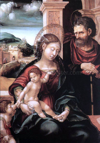 Hans Burgkmair Holy Family with the Child St John - Hand Painted Oil Painting