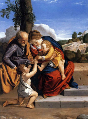 Orazio Gentileschi Holy Family with the Infant Saint John the Baptist - Hand Painted Oil Painting