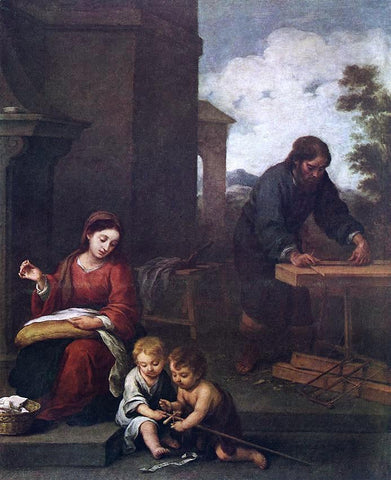 Bartolome Esteban Murillo Holy Family with the Infant St John - Hand Painted Oil Painting