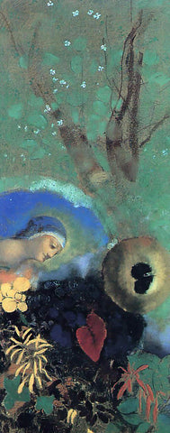 Odilon Redon Homage to Leonardo da Vinci - Hand Painted Oil Painting