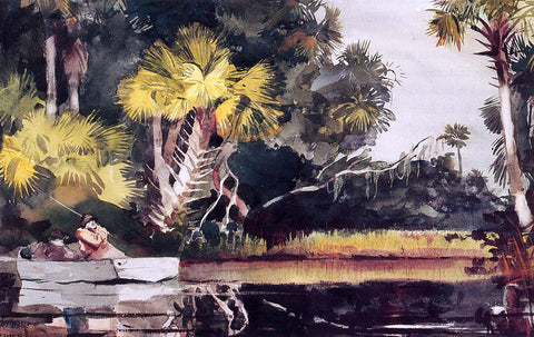 Winslow Homer Homasassa Jungle - Hand Painted Oil Painting