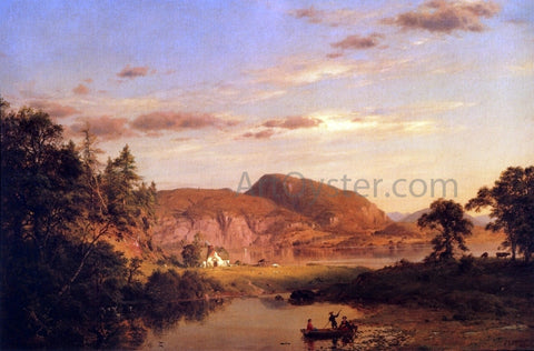 Frederic Edwin Church Home by the Lake - Hand Painted Oil Painting
