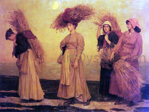 Valentine Cameron Prinsep Home From Gleaning - Hand Painted Oil Painting