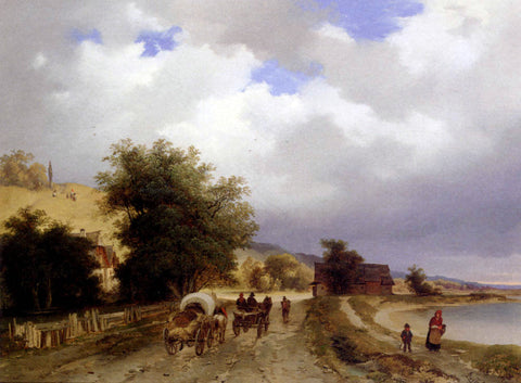 Ignaz Raffalt Homeward Bound - Hand Painted Oil Painting