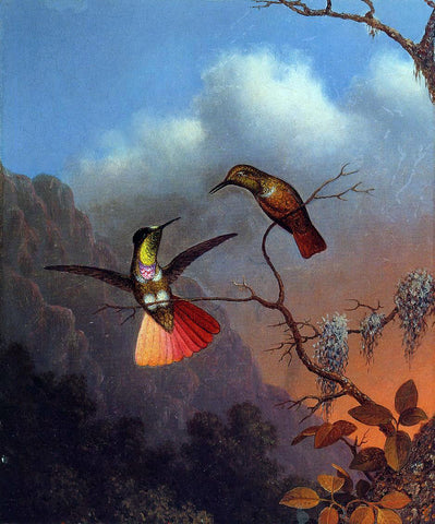Martin Johnson Heade Hooded Visorbearer - Hand Painted Oil Painting