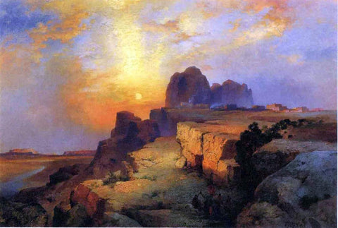 Thomas Moran Hopi Museum, Arizona - Hand Painted Oil Painting