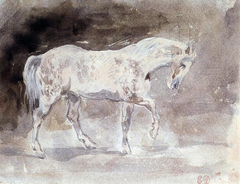 Eugene Delacroix The Horse - Hand Painted Oil Painting
