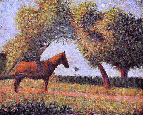 Georges Seurat The Horse - Hand Painted Oil Painting