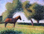Georges Seurat Horse and Cart - Hand Painted Oil Painting