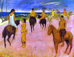 Paul Gauguin Horsemen on the Beach - Hand Painted Oil Painting