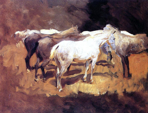 John Singer Sargent Horses at Palma - Hand Painted Oil Painting