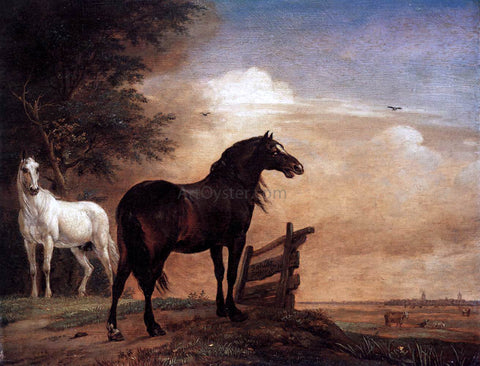 Paulus Potter Horses in a Field - Hand Painted Oil Painting